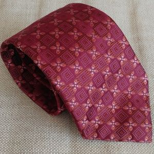Canali Tie for Men Burgundy Maroon Color